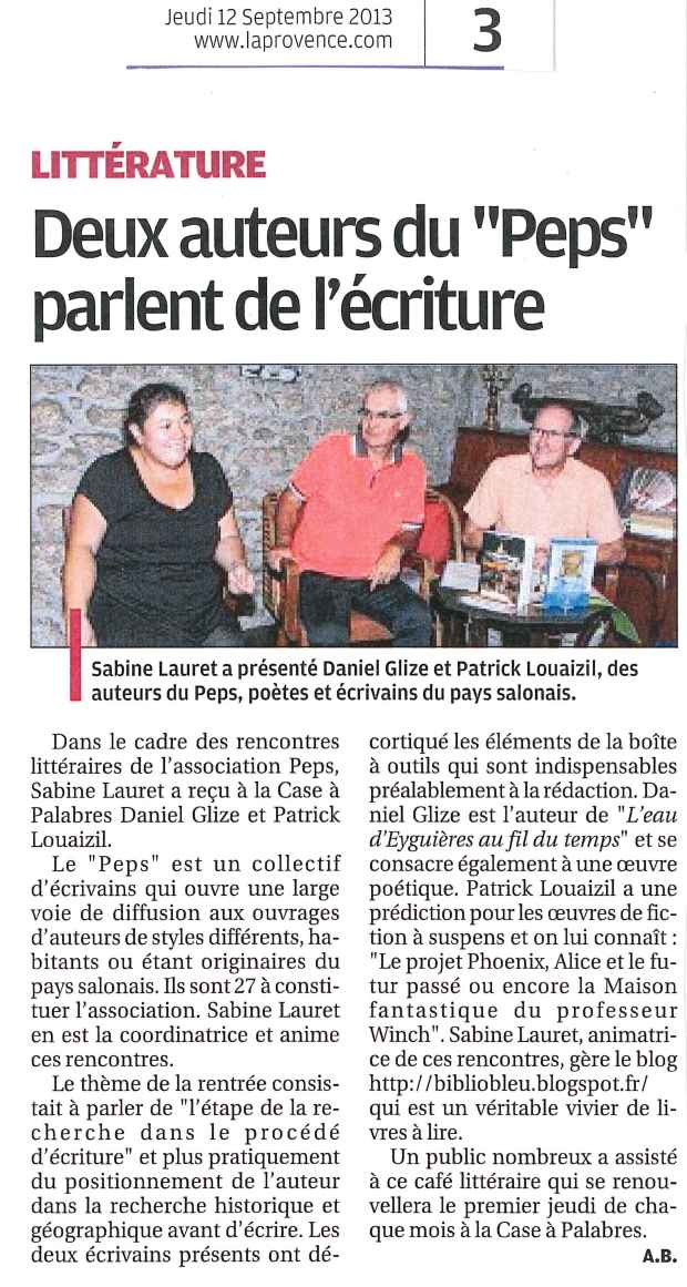 La Provence_12 septembre 2013