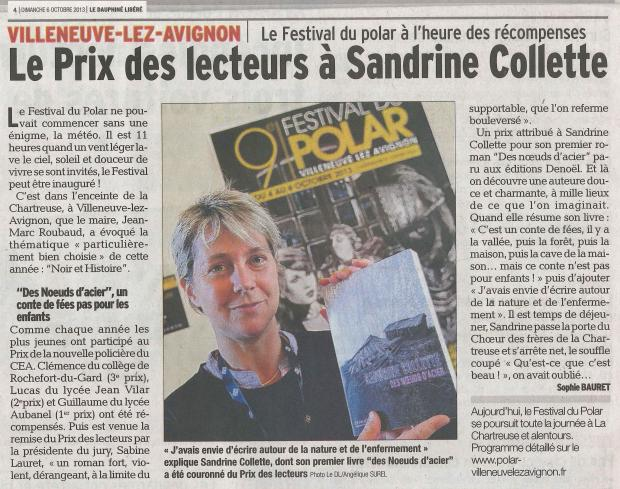 Le Dauphiné Libéré - 6 octobre 2013