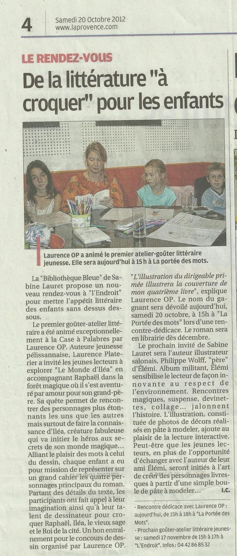 20 octobre 2012 La Provence