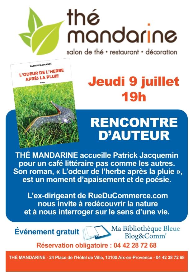 Affiche café littéraire Patrick Jacquemin - Aix en Provence