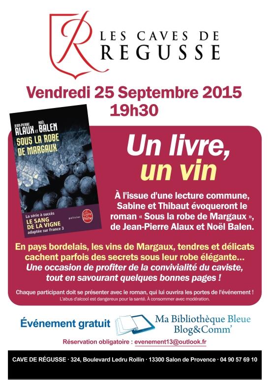 Affiche 1 livre 1 vin Sous la robe Margaux - Salon de Provence