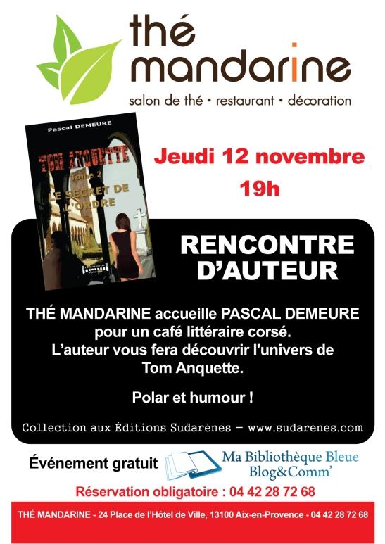 rencontre littéraire Pascal  Demeure - Aix en Provence