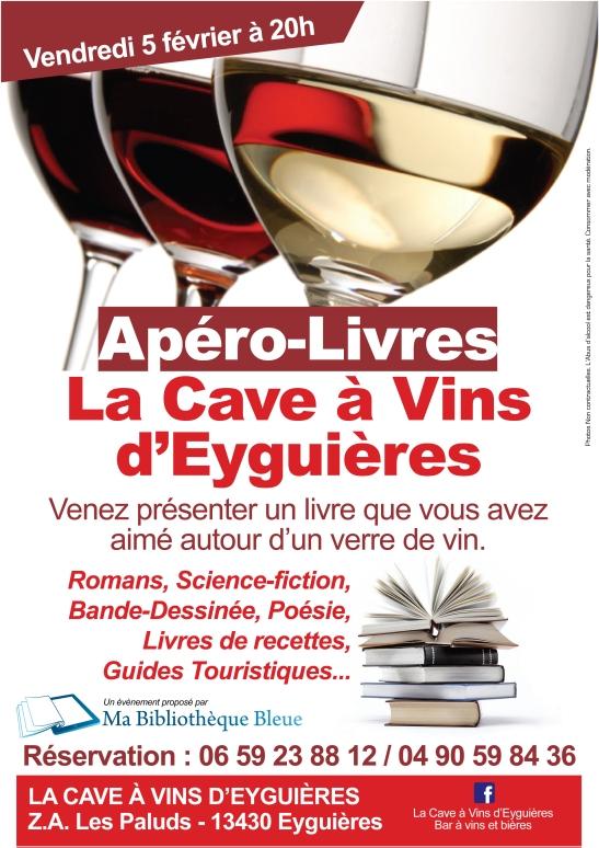 Affiche AperoLivre Cave Vin- Eyguieres