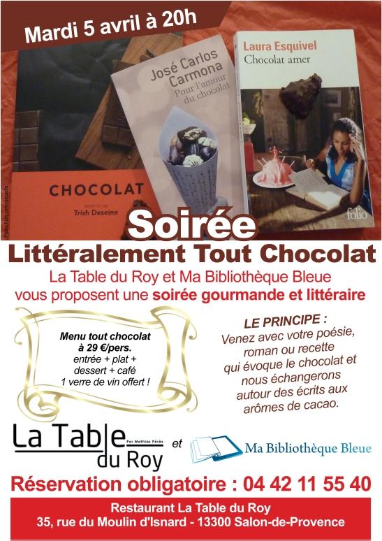 Affiche Soiree Tout chocolat - Salon de Provence