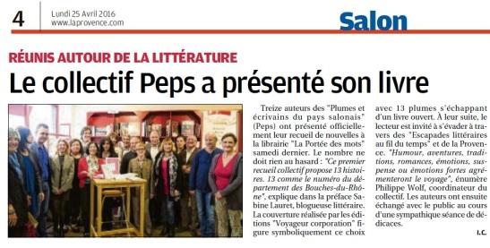 La Provence - 25 avril 2016