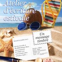 Atelier d'écriture estivale : un message timbré